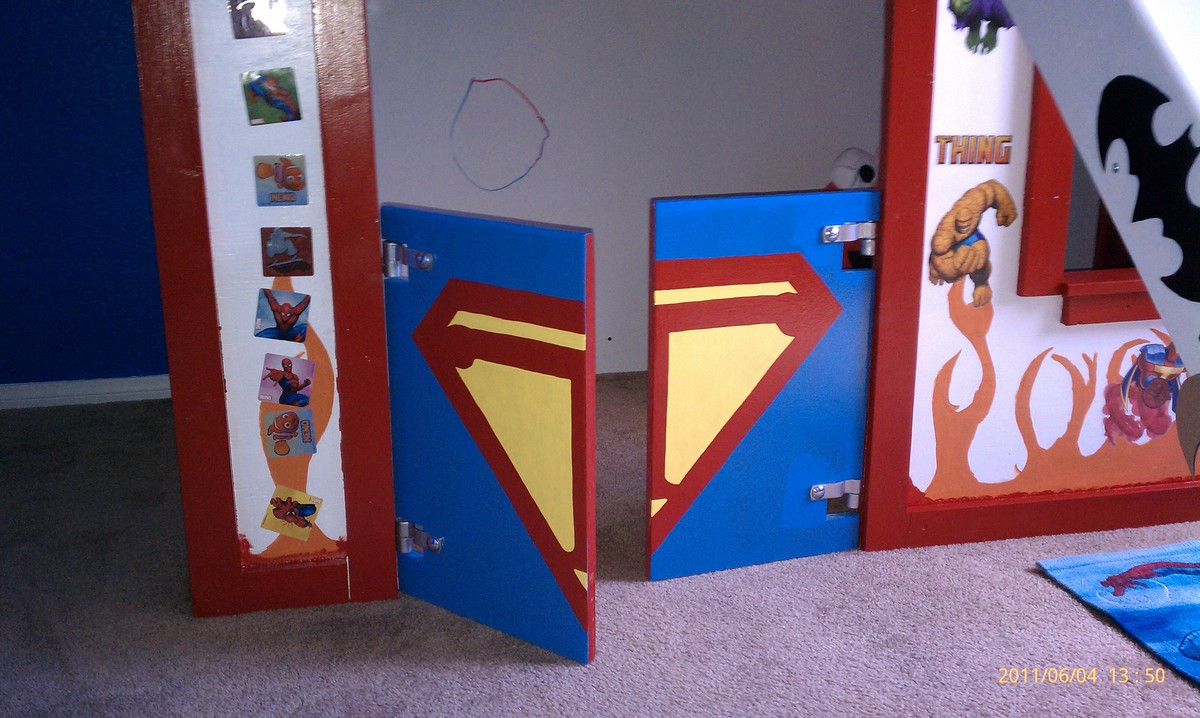Ana White  Super Hero Clubhouse Bed  DIY Projects