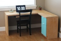 Ana White | L-shape Modern plywood desk - DIY Projects