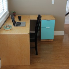 Diy Living Room Furniture Plans Lounge Chair Canada Ana White | L-shape Modern Plywood Desk - Projects