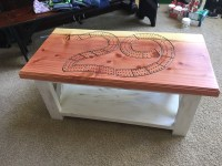 Ana White | Rustic x coffee table cribbage table - DIY ...