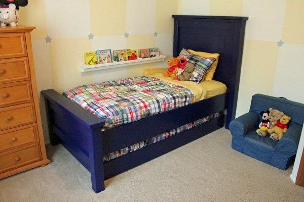 Ana White Farmhouse Twin Bed