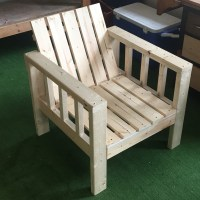 Ana White | My Simple Outdoor Lounge Chair with 2x4 ...