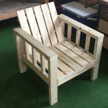 Ana White Simple Outdoor Lounge Chair With 2x4