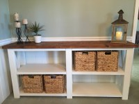 Ana White | Rustic X for a dining room console table - DIY ...