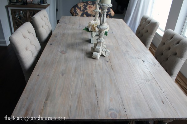 Ana White Whitewashed Farmhouse Table - Diy Projects