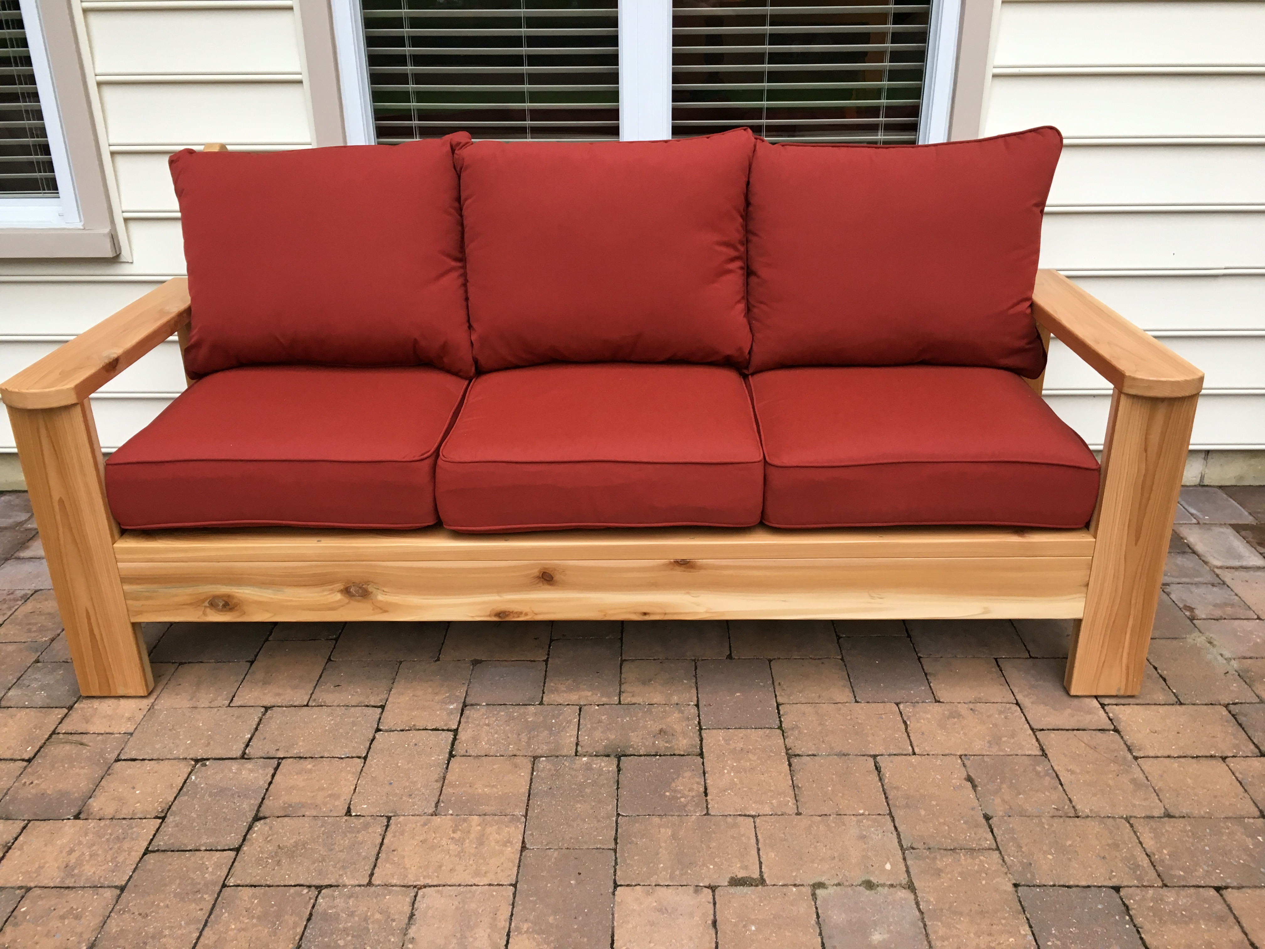 diy outdoor sofa table one seat cover ana white cedar projects