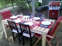 Ana White Simple Cedar Outdoor Dining Table - Diy Projects
