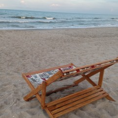 Beach Sling Chair Plastic Bentwood Bistro Chairs Ana White Wood Folding Deck Or