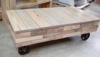 Ana White | Reclaimed Pallet Wood Factory Cart Coffee ...