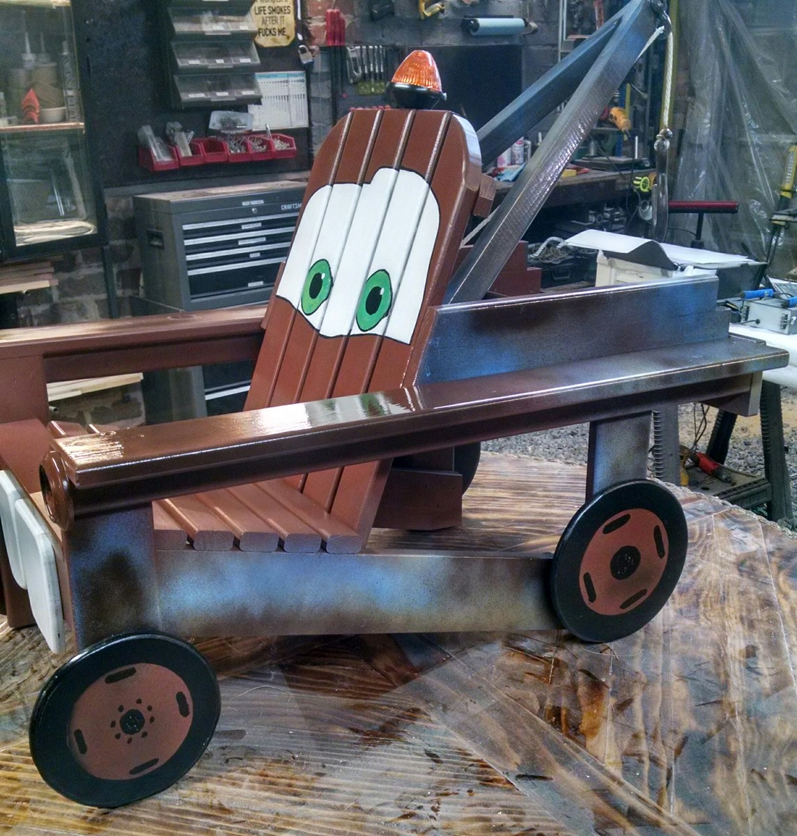 adirondack chair diy folding cushion bed ana white   tow mater - projects