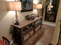 Ana White | X Console Table - DIY Projects