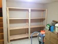 Ana White | 2 x 4 Garage Shelves Built into Basement ...
