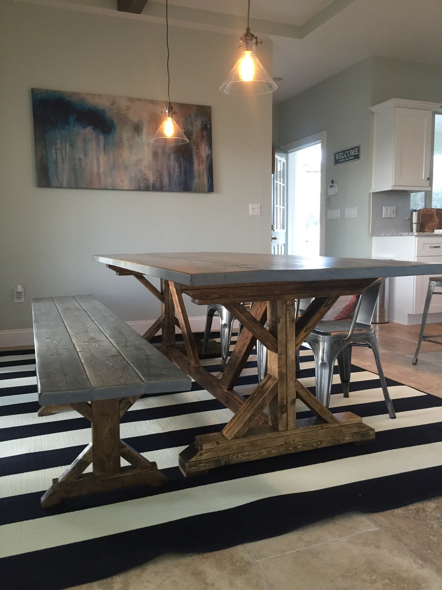 Ana White Distressed Fancy X Farmhouse Table Diy Projects