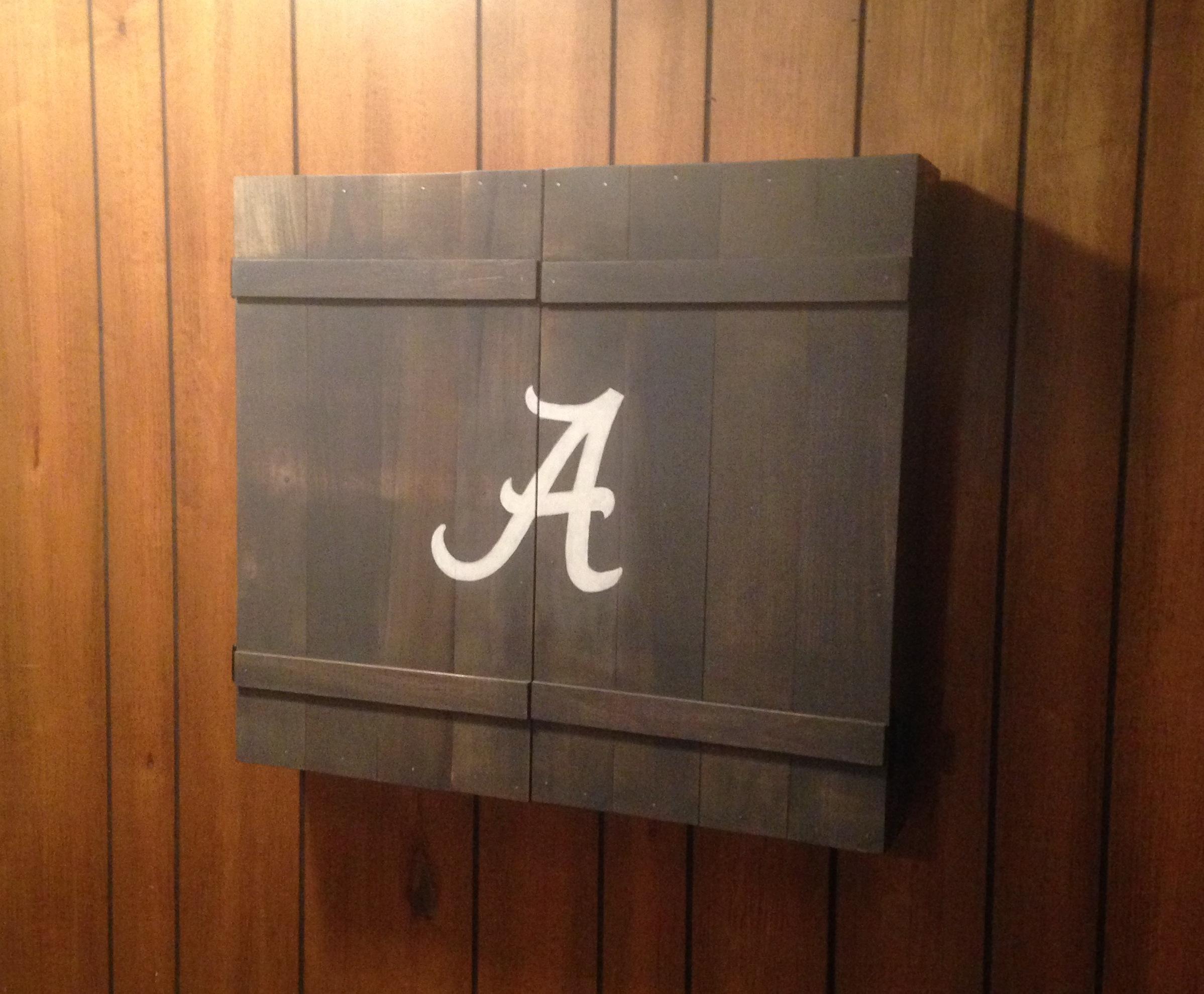Ana White  Dartboard Cabinet  DIY Projects