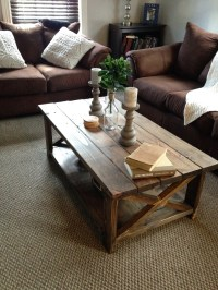 "Ana White | DIY Rustic ""X"" Coffee Table - DIY Projects"