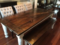 Ana White | Farmhouse table + bench + extensions - DIY ...
