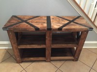 Ana White | Rustic X Console Table with X Top - DIY Projects