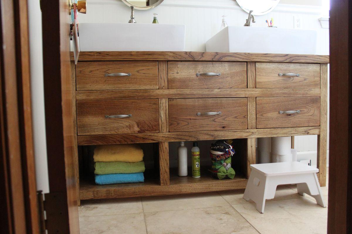 Ana White  dresser turned bathroom vanity  DIY Projects