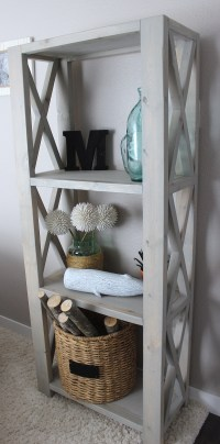 Ana White | Rustic Triple X BookShelf - DIY Projects