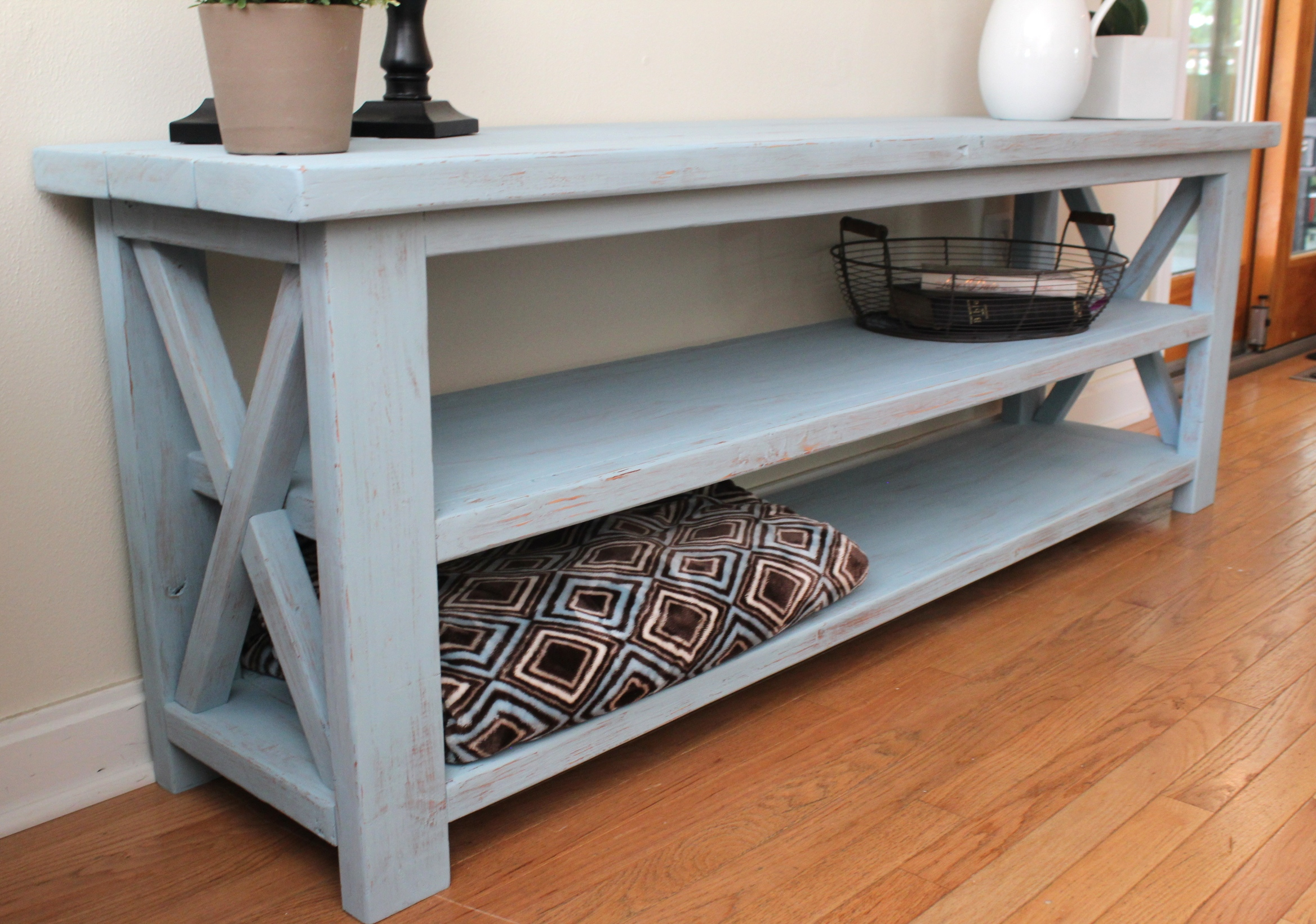 ana white sofa table 100 campinas robins egg blue console diy projects