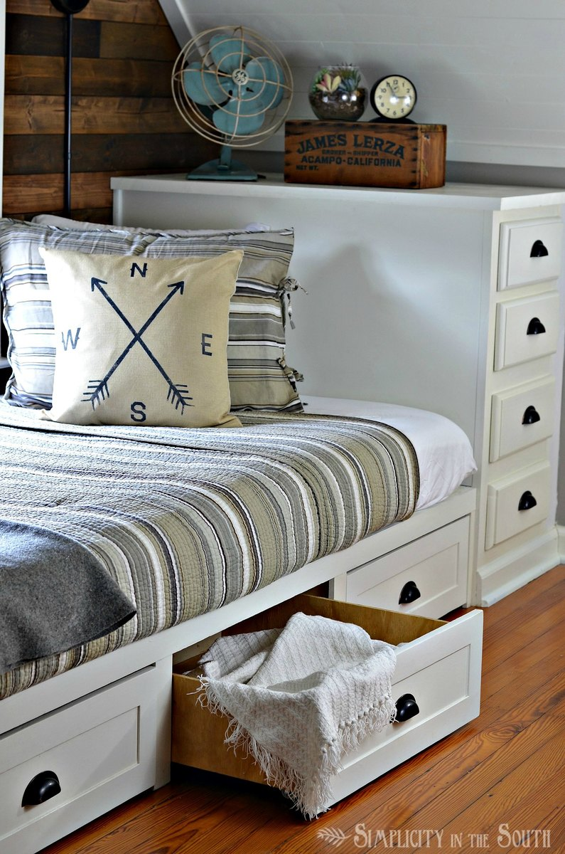 Ana White  BuiltIn Bed with Trundle Drawers  DIY Projects