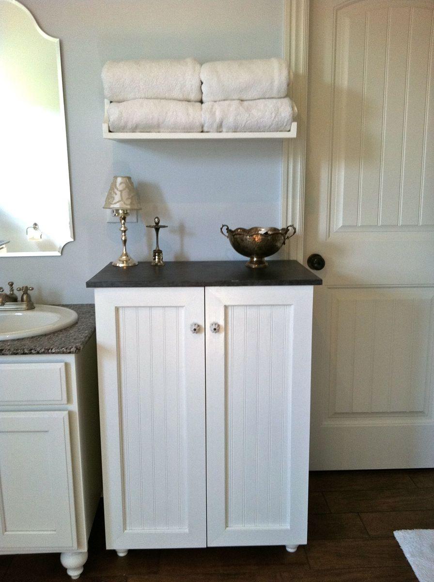Ana White  My laundry basket dresser with doors  DIY