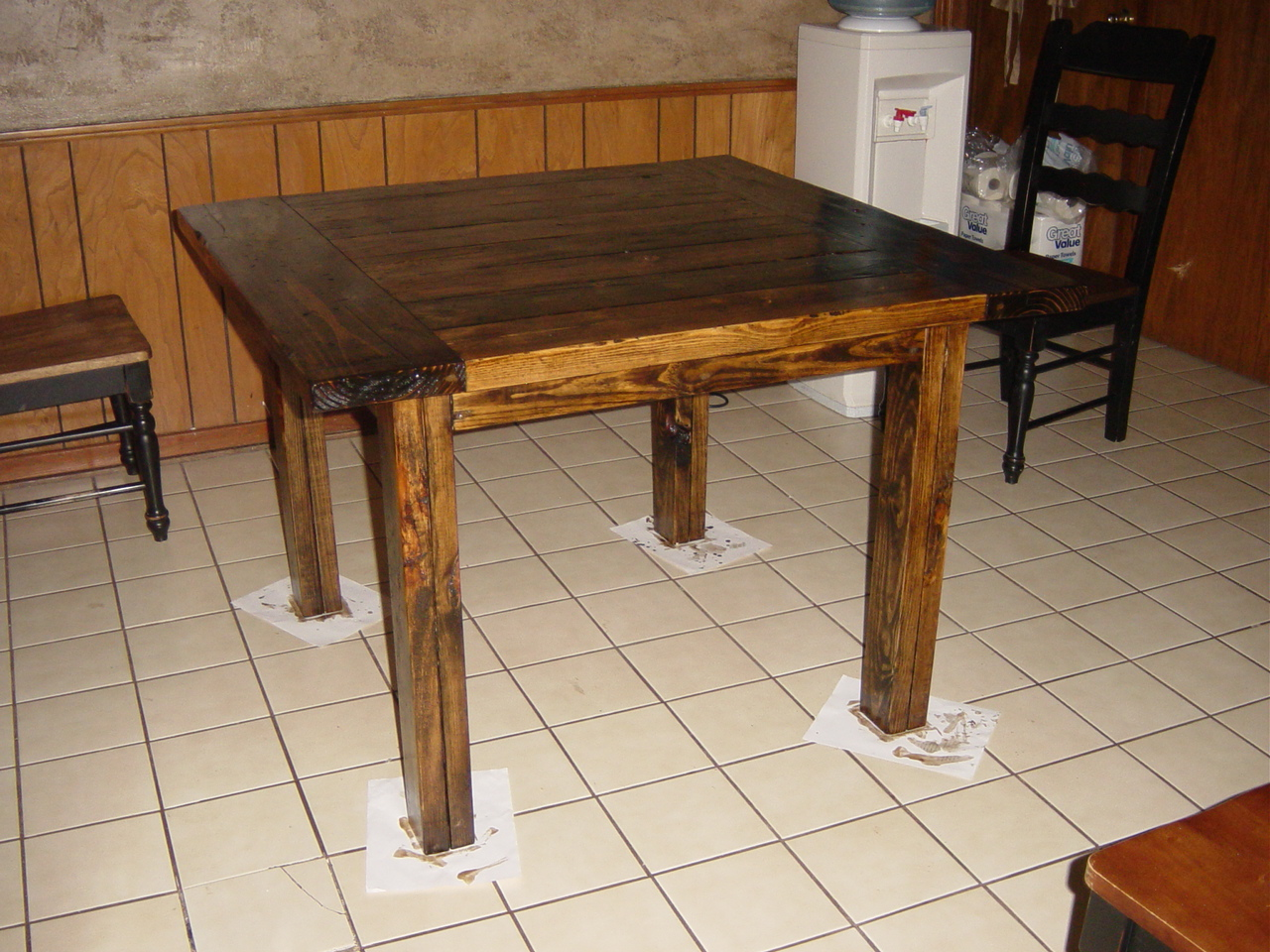 Ana White  Square Kitchen Table Modified Tryde Coffee