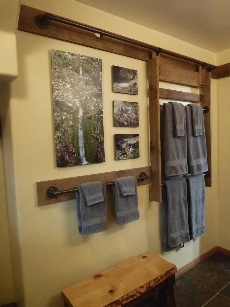 ana white | bathroom hanging towel racks - diy projects