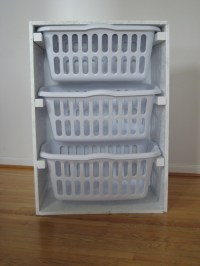 Ana White | Laundry Basket Organizer - DIY Projects