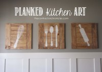 Ana White | Planked Kitchen Art - Feature by The ...