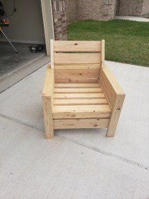 Modern Outdoor 2x4 Chair With Modification Ana White