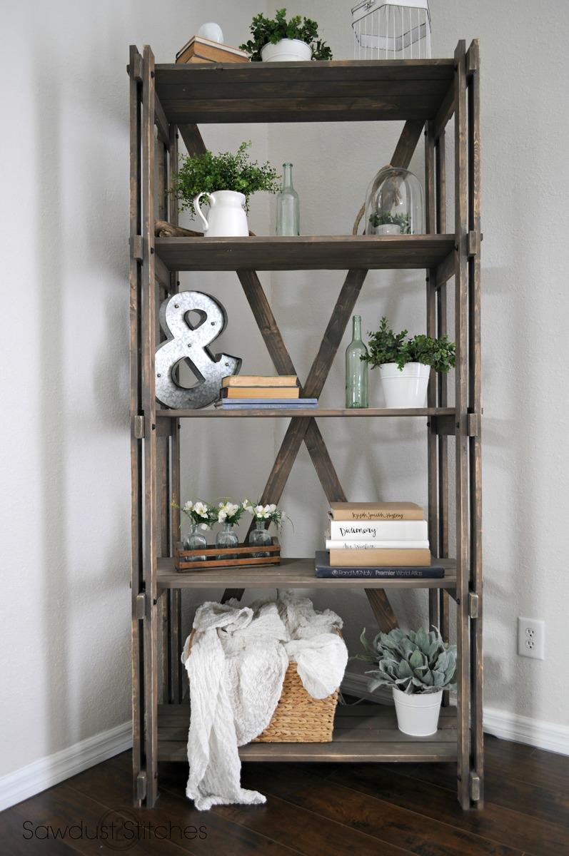 Ana White  Arhaus inspired bookshelf  DIY Projects