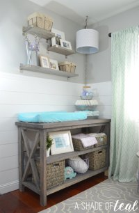 Ana White | Rustic Grey Changing Table - DIY Projects