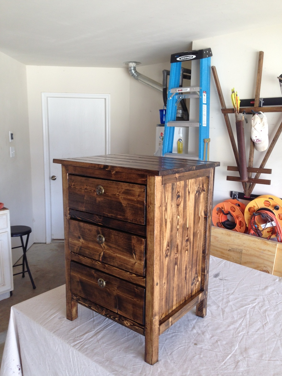 Ana White  Reclaimed Wood Look Bedside Table 1st Project