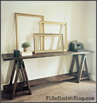 Ana White | Diy Sawhorse Console Table - DIY Projects