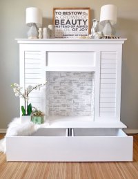 Ana White | Faux Fireplace with Hidden Storage - DIY Projects