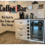 Coffee Bar With Built In Beer Fridge And Wine Storage Ana White