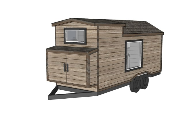 Free Tiny House Plans Quartz Model With Bathroom Ana White