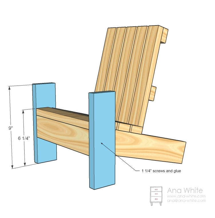 adirondack chair diy ana white arm covers to buy fiona s doll projects