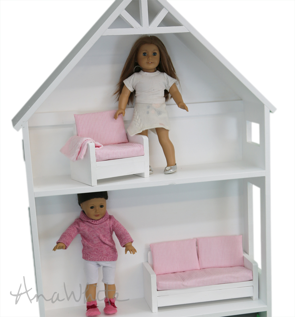 american girl doll chairs genuine leather chair and ottoman ana white or 18 sofa couch plans diy projects