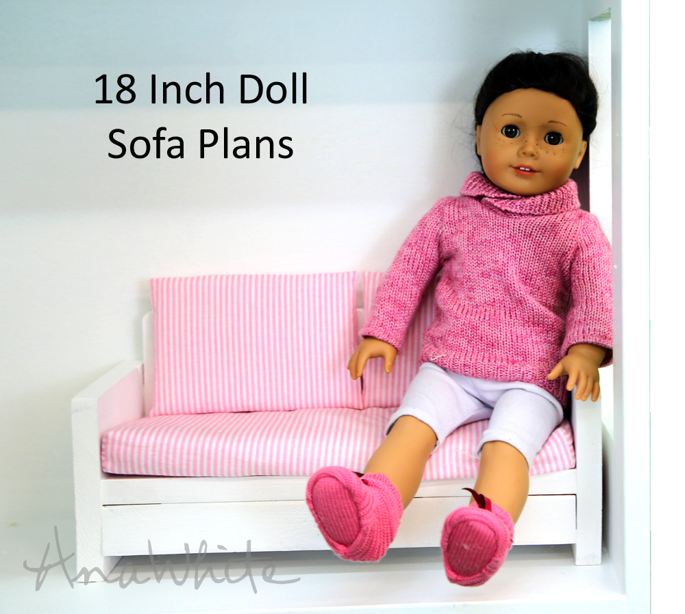 american doll chair baby nursery chairs australia ana white girl or 18 sofa couch plans diy projects