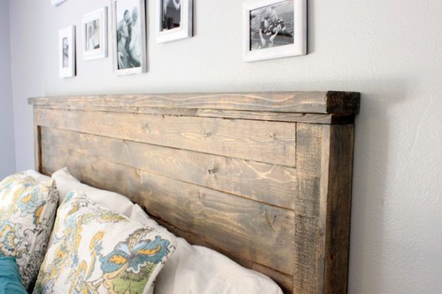 ana white | reclaimed wood headboard, queen size - diy projects