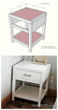 Ana White   Simple Modern Bedside Table - DIY Projects