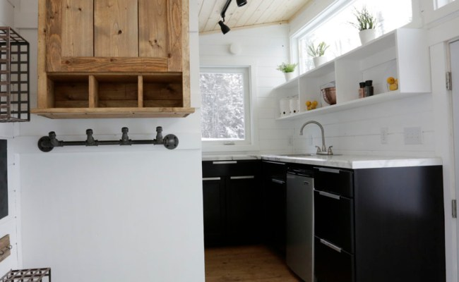 Open Concept Rustic Modern Tiny House Photo Tour And