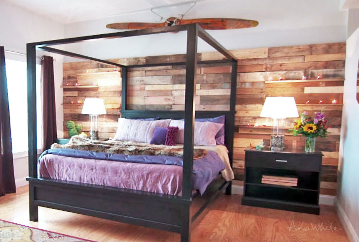 farmhouse canopy bed frame all sizes
