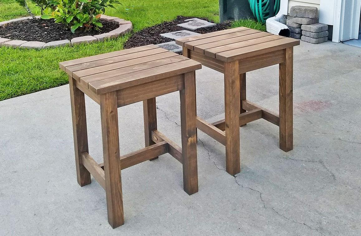 adirondack stool or end table ana white