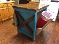 Ana White | Kitchen Island with Trash Bin - DIY Projects
