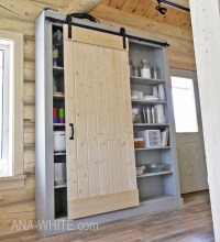 Ana White | Barn Door Cabinet or Pantry - DIY Projects