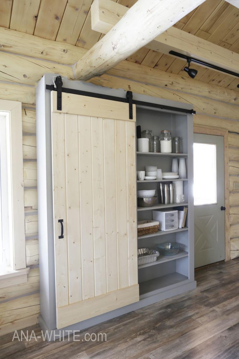 Barn Door Cabinet or Pantry  Ana White