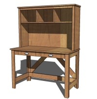 hollands: Simple wood desk plans free